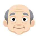 Old Man Emoji with a Light Skin Tone, Facebook style