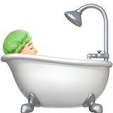 Person Taking Bath Emoji with Light Skin Tone, Apple style