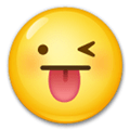 Crazy Emoji / Face with Stuck-Out Tongue & Winking Eye Emoji, LG style