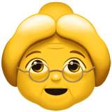 Old Woman Emoji, Apple style