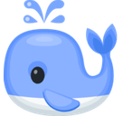 Spouting Whale Emoji, Facebook style
