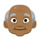 Old Man Emoji with Medium-Dark Skin Tone, Facebook style