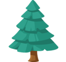 Evergreen Tree Emoji, Facebook style