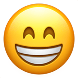 Grin Emoji / Grinning Face with Smiling Eyes Emoji, Apple style