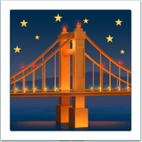 Bridge At Night Emoji, Apple style