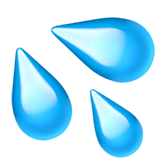 Sweat Droplets Emoji, Apple style