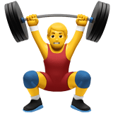 Man Lifting Weights Emoji, Apple style