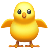 Front-Facing Baby Chick Emoji, Apple style