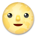 Full Moon with Face Emoji, LG style