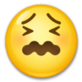Confounded Face Emoji, LG style