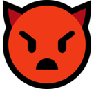 Imp Emoji / Angry Face with Horns Emoji, Microsoft style