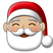 Santa Claus Emoji with a Medium-Light Skin Tone, Samsung style