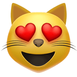 Smiling Cat Face With Heart-Shaped Eyes Emoji, Apple style