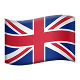 Flag: United Kingdom Emoji, Apple style
