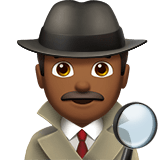 Detective Emoji with a Medium-Dark Skin Tone, Apple style
