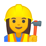 Woman Construction Worker Emoji, Google style