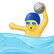 Man Playing Water Polo Emoji, Samsung style