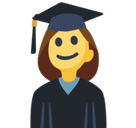 Woman Student Emoji, Facebook style