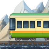 Mountain Railway Emoji, Apple style