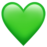 Green Heart Emoji, Apple style