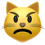 Pouting Cat Face Emoji, Apple style