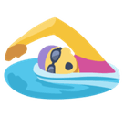 Woman Swimming Emoji, Facebook style