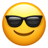 Smiling Face with Sunglasses Emoji, Apple style