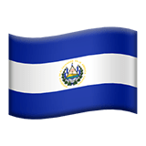 Flag of El Salvador Emoji, Apple style