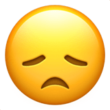 Sad Emoji / Disappointed Face Emoji, Apple style