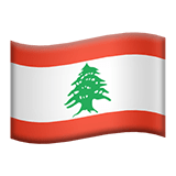 Flag of Lebanon Emoji, Apple style