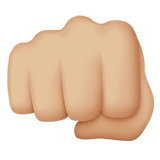 Oncoming Fist Emoji with a Medium-Light Skin Tone, Apple style