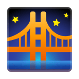 Bridge At Night Emoji, Google style
