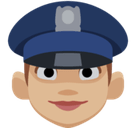 Woman Police Officer Emoji with Medium-Light Skin Tone, Facebook style