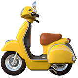 Motor Scooter Emoji, Apple style