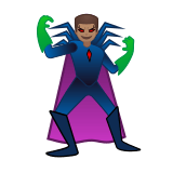 Man Supervillain Emoji with Medium Skin Tone, Google style