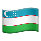 Flag of Uzbekistan Emoji, Apple style