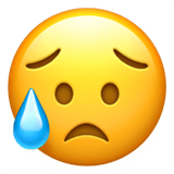 Disappointed But Relieved Face Emoji, Apple style