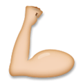 Flexed Biceps Emoji with Medium-Light Skin Tone, LG style