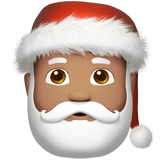 Santa Claus Emoji with a Medium Skin Tone, Apple style