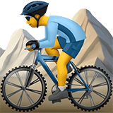 Person Mountain Biking Emoji, Apple style