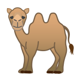 Two-Hump Camel Emoji, Google style