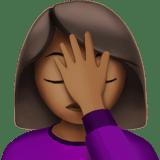 🤦🏾 ♀️ Woman Facepalming Emoji with Medium-Dark Skin