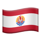 Flag of French Polynesia Emoji, Apple style