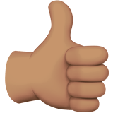 Thumbs Up Emoji with a Medium Skin Tone, Apple style