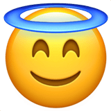 Smiling Face With Halo Emoji, Apple style