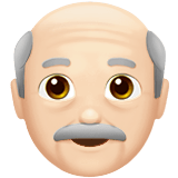 Old Man Emoji with a Light Skin Tone, Apple style