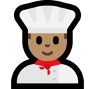 Man Cook Emoji with Medium Skin Tone, Microsoft style