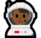 Man Astronaut Emoji with Medium-Dark Skin Tone, Microsoft style