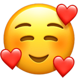 Smiling Face with 3 Hearts Emoji, Apple style