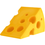 Cheese Wedge Emoji, Apple style